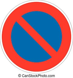 Restricted Parking Zone - a symbol of an important road sign