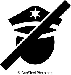 Restricted Police - Vector Icon Illustration - Restricted ...