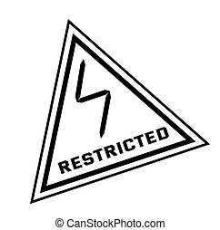 RESTRICTED stamp isolated on white