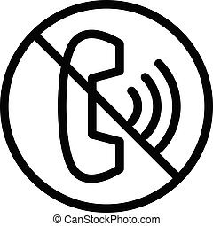restricted vector thin line icon