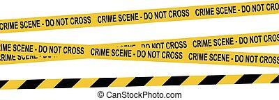 restriction, vecteur, dangereux, zones., jaune, black., ensemble, tapes.