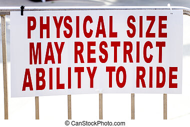 restrictions, poids