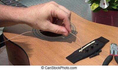 Restringing Guitar in Sunlight