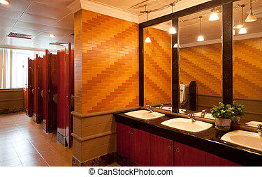 restroom, 贅沢, 公衆, 内部