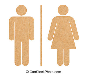 Restroom icon set isolated with clipping path