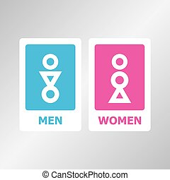 Restroom sign design