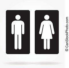restroom toilet symbols outlines inverted vector