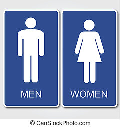 Restrooms Sign - Men's and Women's Restroom Sign