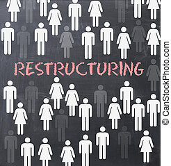 restructuring, processo, dentro, organização, ou, companhia