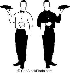 resturant, serveur