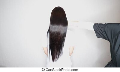 Result after lamination and hair straightening in a beauty ...