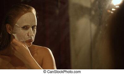 Result of applying a facial mask