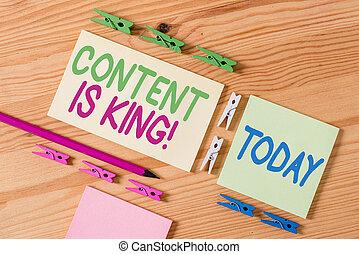 resultados, busca, pago, significado, papeis, conceito, chão, madeira, vazio, escritório., conteúdo, fundo, texto, crescendo, colorido, king., visibilidade, non, clothespin, letra, marketing, focalizado, lembrete