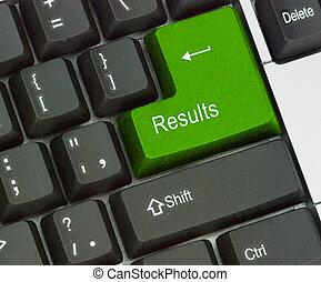 resultados, tecla