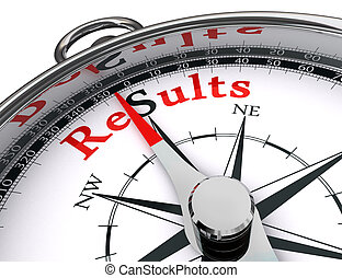 results compass conceptual image - results towards south...