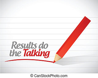 results do the talking message
