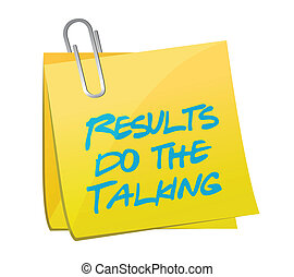results do the talking post message