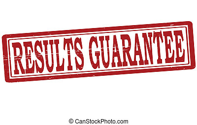 Results guarantee - Stamp with text results guarantee inside...