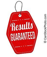 Results guaranteed price tag