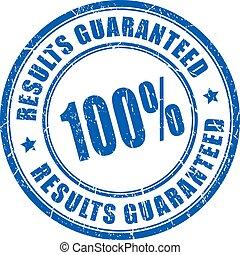 Results guaranteed vector stamp