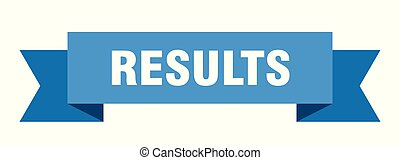 results ribbon. results isolated sign. results banner