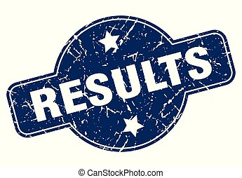 results sign - results vintage round isolated stamp