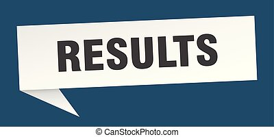 results speech bubble. results sign. results banner