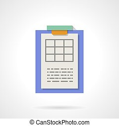 Color spreadsheet flat icons. Color spreadsheet flat icon set on ...