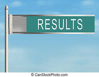 results., straße zeichen, auf, der, himmelsgewölbe, hintergrund., raster, illustration.
