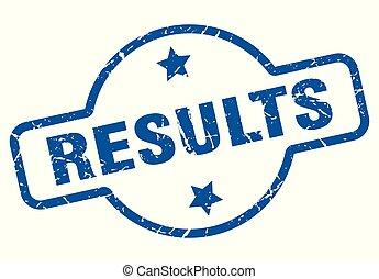 results vintage stamp. results sign