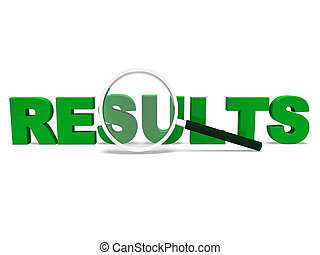 Results Word Shows Score Result Or Achievement - Results...