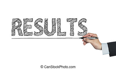 results written by hand