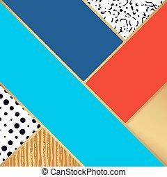 resumé umění, pattern., vektor, ilustrace, jako, móda, design.