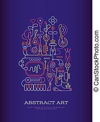 resumé umění, vektor, ilustrace