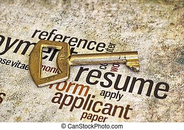 Resume And Key Clip Artby ...  Resume Clip Art