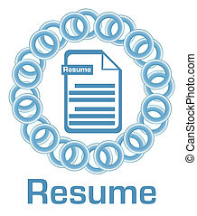 Resume Blue Rings Circular