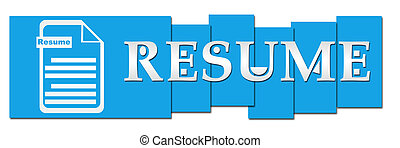 Resume Blue Stripes With Icon - Resume concept image with ...