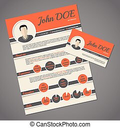 Hire me business cards apply job interview resume sell yourself resume cv template with business card colourmoves