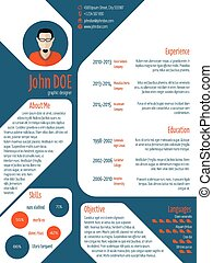 Resume cv template with photo and details - Cool new modern...
