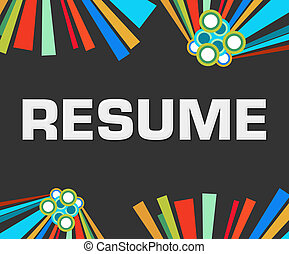 Resume Dark Colorful Elements