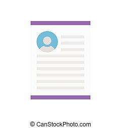 resume  flat color icon