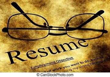 Resume form grunge concept
