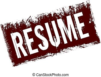 RESUME on red retro distressed background.