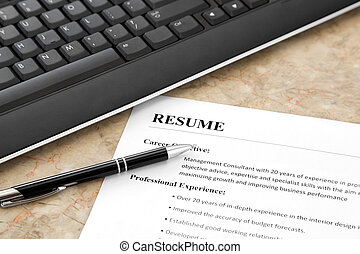 Resume on the Table