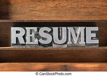 resume tray