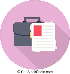 resume vector flat colour icon