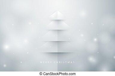 resumen, árbol de navidad, fondo., papel, arte, estilo