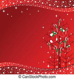 resumen, árbol de navidad, papel pintado