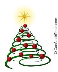 resumen, árbol, navidad