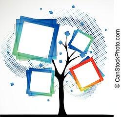 resumen, árbol., vector